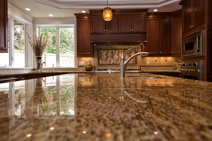 clean granite counters